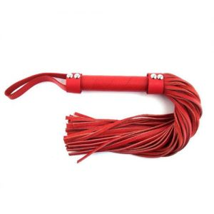 Flogger de cuero en color rojo