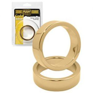 Anillo erección dorado de gran calibre