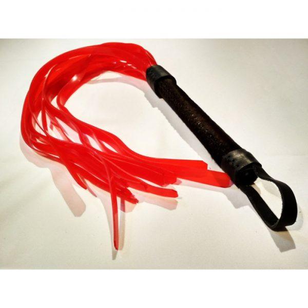 Flogger artesanal plástico y piel de toro (6)