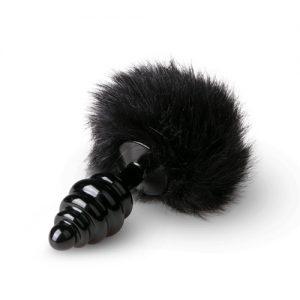 Plug cola de conejo color Negro