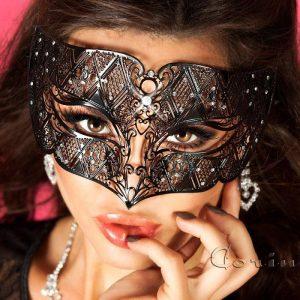 Mascara negra con cristales Intrigante