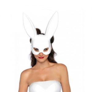 Máscara blanca de conejita
