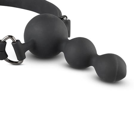 Mordaza de silicona con tira de bolas anales (3)