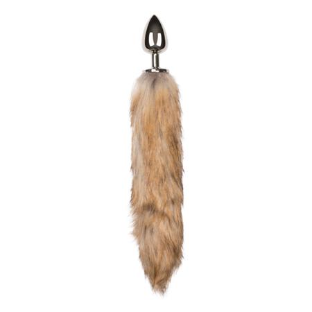 Plug cola de zorro grande color Plateado (2)