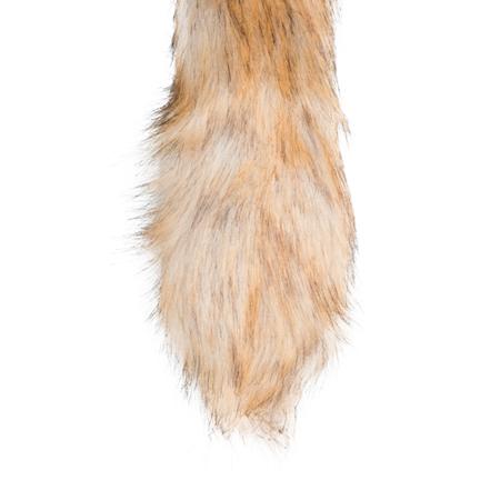 Plug cola de zorro grande color Plateado (4)